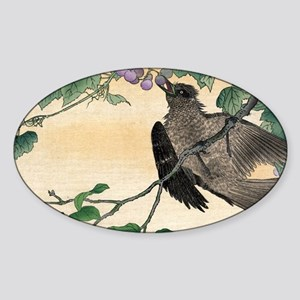 Birds And Flowers - anon - 1900 - woodcut Sticker