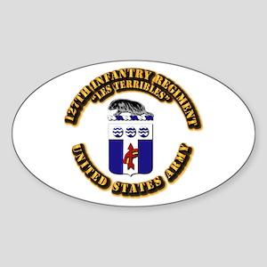 COA - Infantry - 127th Infantry Regiment Sticker (