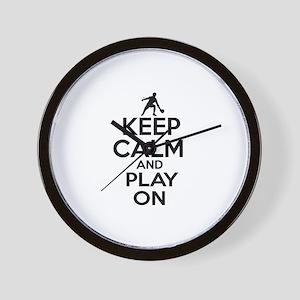 Keep calm and play Ping Pong Wall Clock
