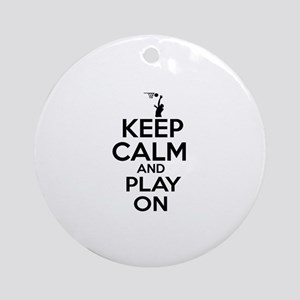 Keep calm and play Basketball Ornament (Round)