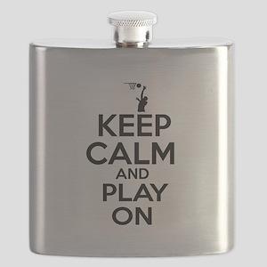 Keep calm and play Basketball Flask