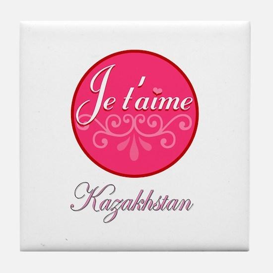 JE TAIME KAZAKHSTAN Tile Coaster