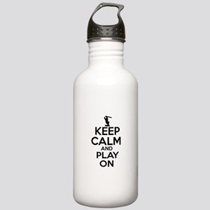 Keep calm and play Cricket Stainless Water Bottle
