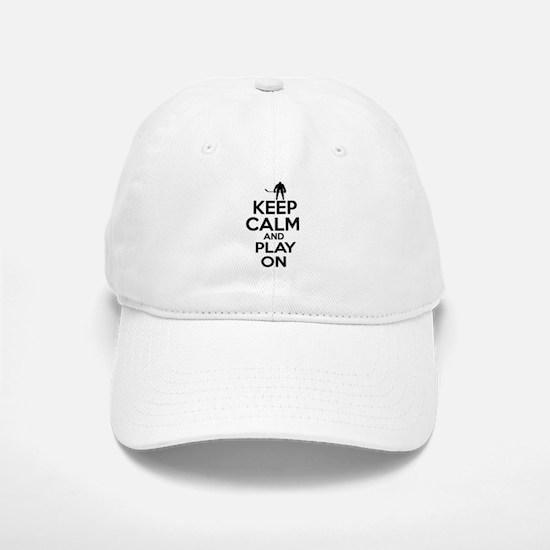 Keep calm and play Ice Hockey Baseball Baseball Cap