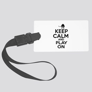 Keep calm and play Ice Hockey Large Luggage Tag