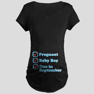 Due in September Maternity T-Shirt
