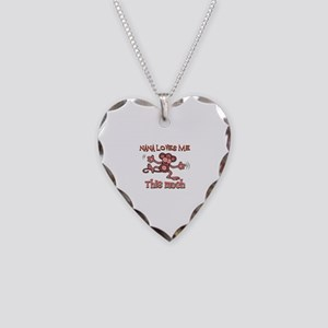 Nana loves me this much Necklace Heart Charm