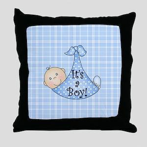 It's a Boy (White) Throw Pillow