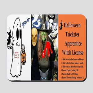 Halloween Witch Apprentice Mousepad