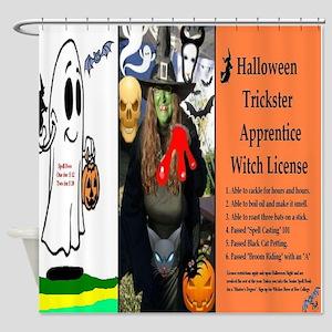 Halloween Witch Apprentice Shower Curtain