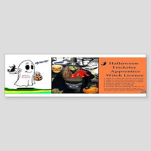 Halloween Witch Apprentice Sticker (Bumper)
