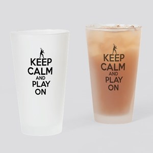 Keep calm and play Squach Drinking Glass