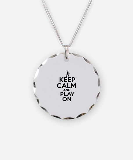 Keep calm and play Squach Necklace