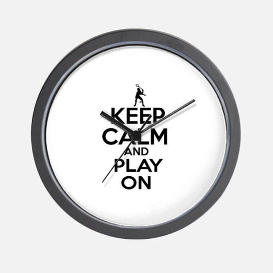 Keep calm and play Squach Wall Clock