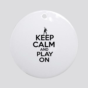Keep calm and play Squach Ornament (Round)