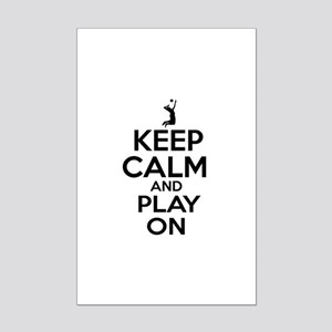 Keep calm and play Volleyball Mini Poster Print