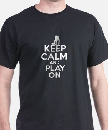Keep calm and play Curl T-Shirt