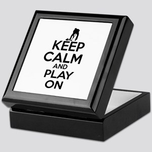 Keep calm and play Curl Keepsake Box
