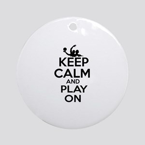 Keep calm and play Water Polo Ornament (Round)