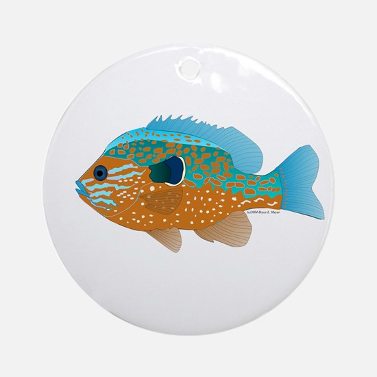 Longear Sunfish fish 2 Ornament (Round)