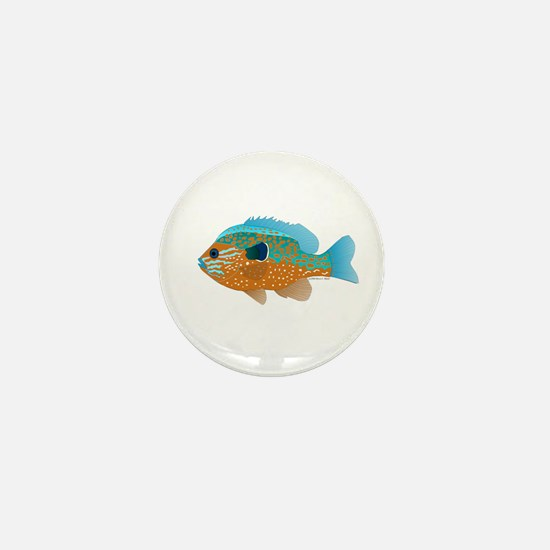 Longear Sunfish fish 2 Mini Button