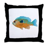 Longear Sunfish fish 2 Throw Pillow