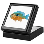 Longear Sunfish fish 2 Keepsake Box