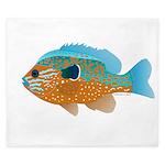 Longear Sunfish fish 2 King Duvet
