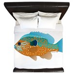 Longear Sunfish fish 2 King Duvet