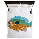 Longear Sunfish fish 2 Queen Duvet