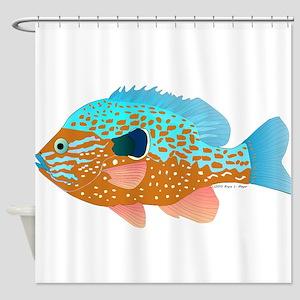 Longear Sunfish fish 2 Shower Curtain
