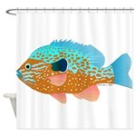 Longear Sunfish fish 2 Shower Curtain