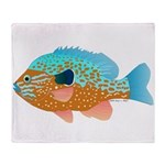 Longear Sunfish fish 2 Throw Blanket