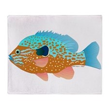 Longear Sunfish fish 2 Throw Blanket