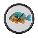 Longear Sunfish fish 2 Large Wall Clock