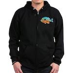 Longear Sunfish fish 2 Zip Hoodie