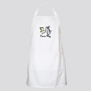 Due In May Stork BBQ Apron