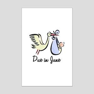 Due In June Stork Mini Poster Print