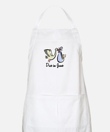 Due In June Stork BBQ Apron