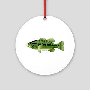 Largemouth Bass fish v2 Ornament (Round)