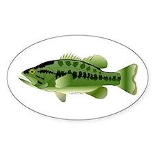 Largemouth Bass fish v2 Sticker
