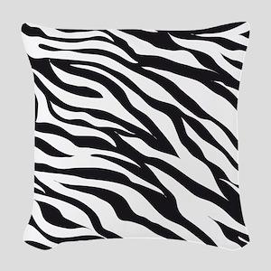 Zebra Animal Print Woven Throw Pillow