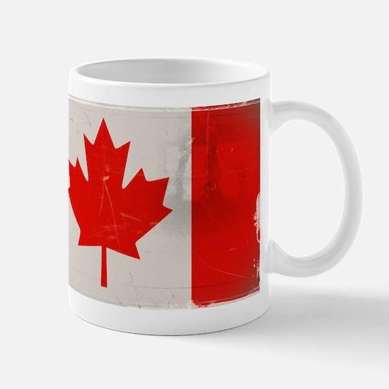 antiqued Canadian flag Mug