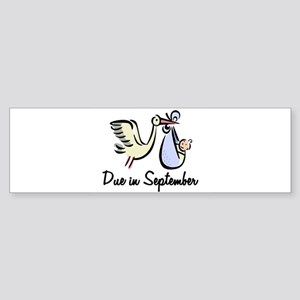 Due In September Stork Bumper Sticker
