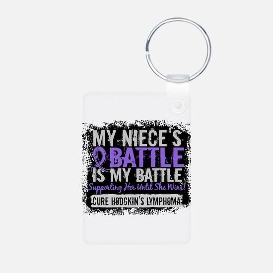 My Battle Too 2 H Lymphoma Keychains