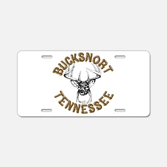 Bucksnort Tennessee Aluminum License Plate