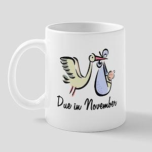 Due In November Stork Mug