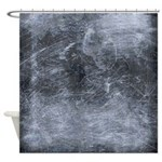 Scratched Metal Industrial Chic Shower Curtain