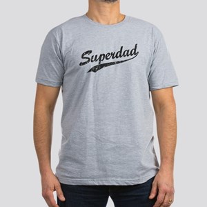 Vintage Super Dad Men's Fitted T-Shirt (dark)
