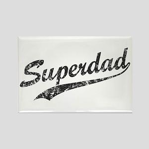 Vintage Super Dad Rectangle Magnet